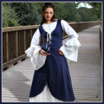 Renaissance Serving Wench Peasant Women Costume Dresses