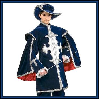 FANCY DRESS COSTUME = DELUXE MUSKETEER UNIFORM