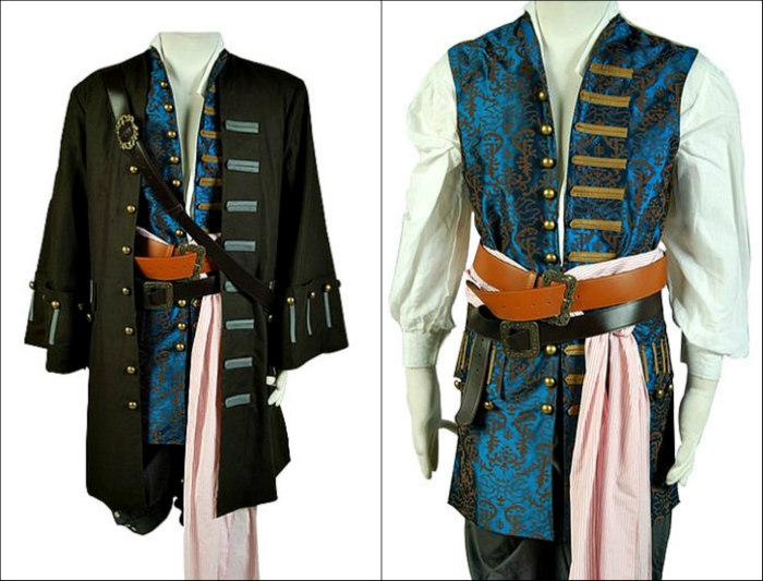 Pirates of the Caribbean 4: Jack Sparrow 8-Pc Men's Costume Set - DeluxeAdultCostumes.com