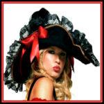 Lady Pirate Hats & Lady Pirate Headwear