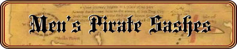 Men's Pirate Sash Accessory