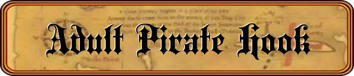 Men's Pirate Hook Title Banner