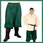 Deluxe Adult Costumes - Pirate breeches, pirate pants, pirate trousers