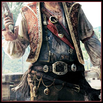 Deluxe Adult Costumes - Men's Leather Pirate Accessories