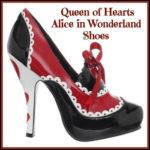 Queen of Hearts Alice in Wonderland Shoes - DeluxeAdultCostumes.com