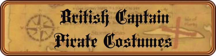 British Captain Pirate Costumes Title Banner