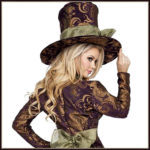 Fancy Mad Hatter Lady Cosplay Costumes