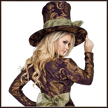 Fancy Lady Mad Hatter Costumes Deluxe Theatrical Quality Adult Costumes