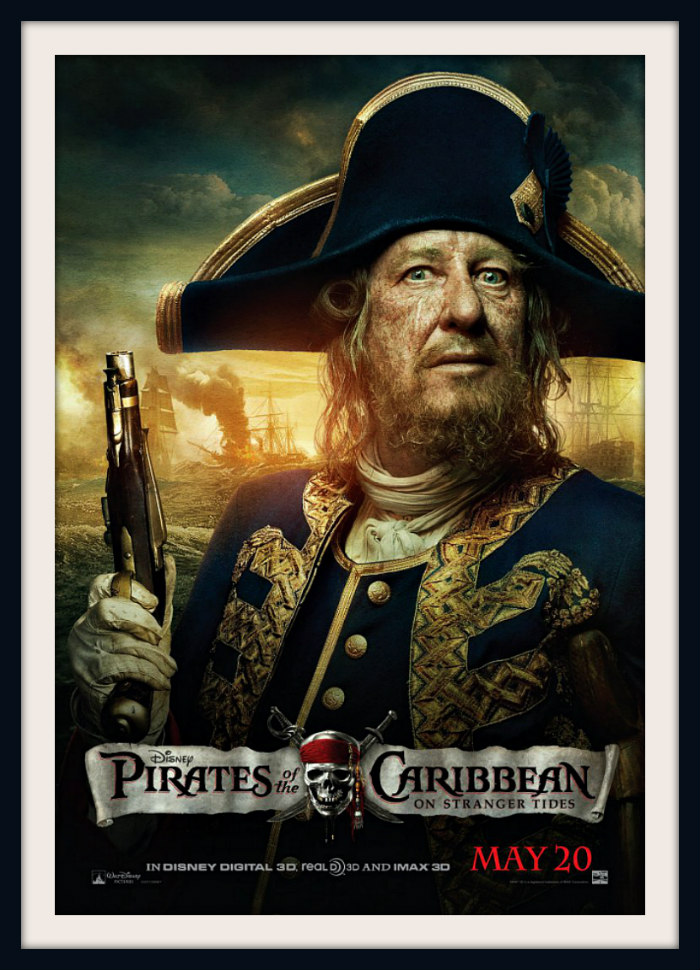 Captain Hector Barbossa Pirates of the Caribbean On Stranger Tides