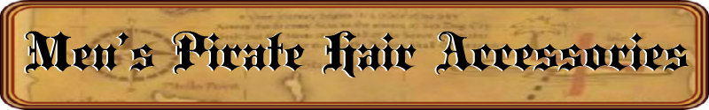 Men's Pirate Hair Accessories Banner