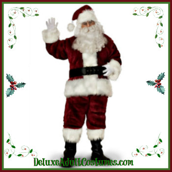 Adult Santa Claus Suits And Accessories Deluxe Theatrical Quality Adult Costumes